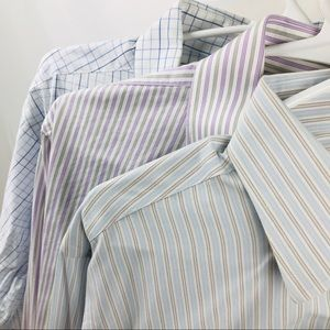 Brooks Brothers Men's 15.5 34 Slim Fit Bundle of 3